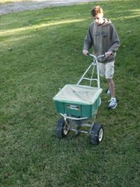 Fertilizing Using a Rotary Push Spreader