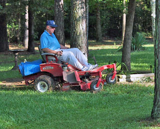 Mowing St. Augustine Grass in South Texas