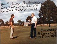 Roy Briggs on his florida Golf Course