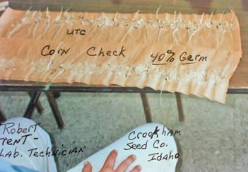 UTC Corn Germination Test Results