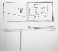 Drawing of Vole Trap