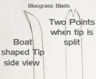 bluegrass leaf tip drawing