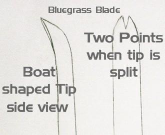 bluegrass leaf tip drawing