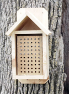 Large Wood Block with Bee House
