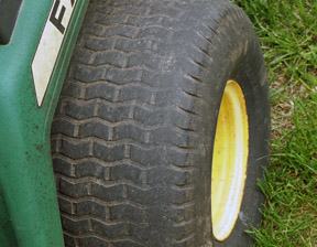 Worn Mower Tire