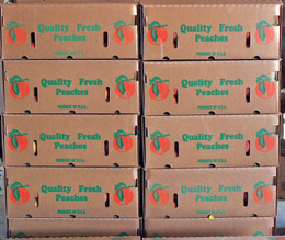 Peach Boxes from Bill Bader's Orchards