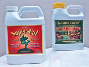 Super-Cal Calcium and Bountiful Harvest Biostimulant