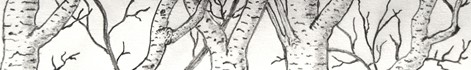Banner style tree drawing