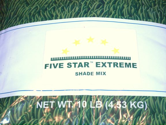 5 Star Extreme Shade Grass Seed