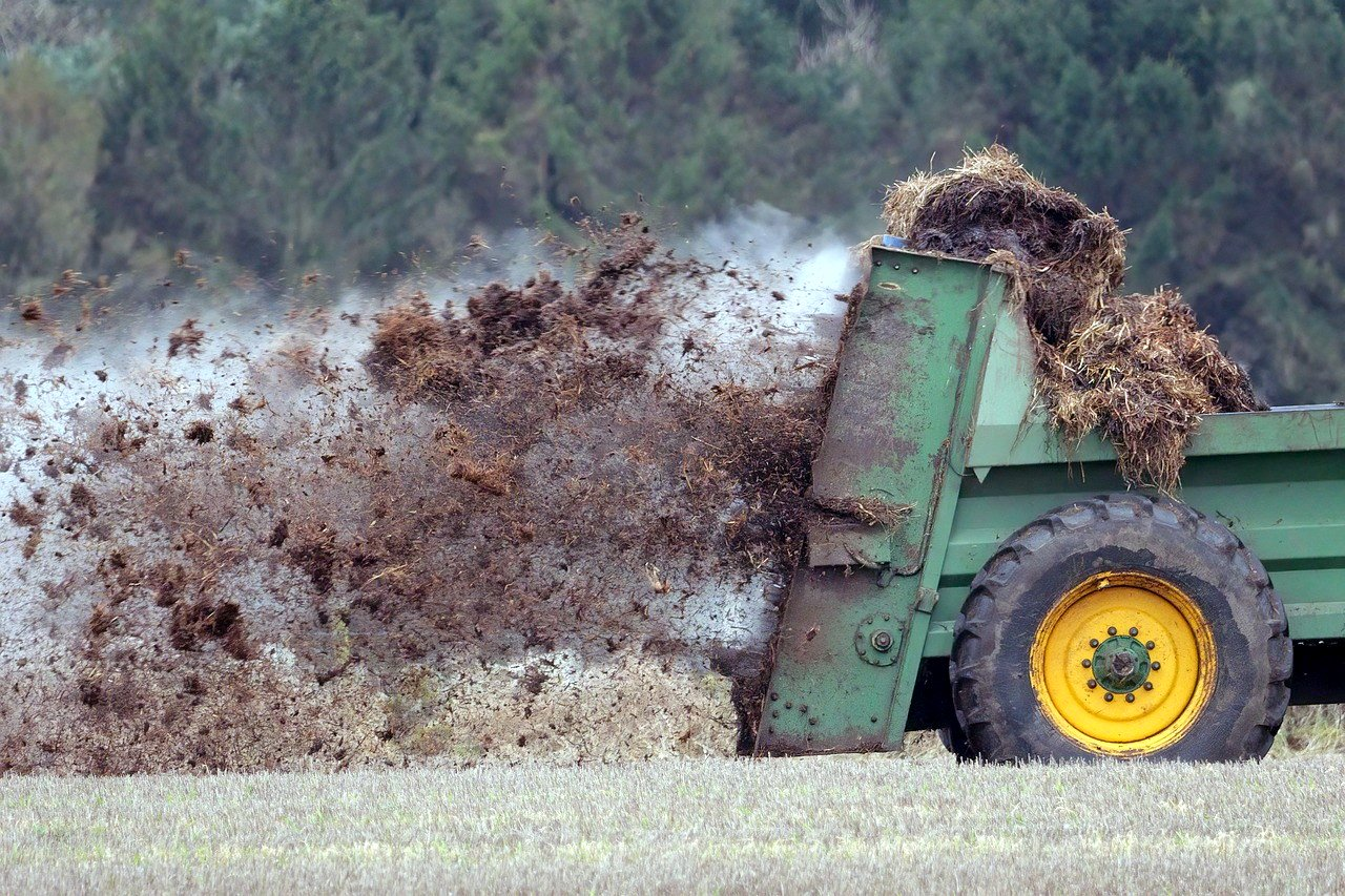 Spreading Manure on a Pasture