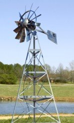 Windmill with Pond Aeration System