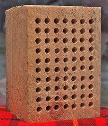 Large Wood Block for Mason Bees